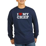 I Love My Chef Long Sleeve Dark T-Shirt