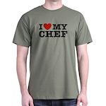 I Love My Chef Dark T-Shirt