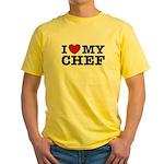 I Love My Chef Yellow T-Shirt