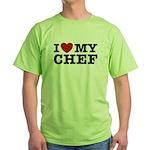 I Love My Chef Green T-Shirt