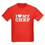 I Love My Chef Kids Dark T-Shirt