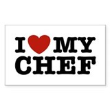 I Love My Chef Rectangle Decal