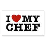 I Love My Chef Rectangle Sticker