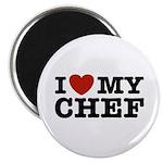 I Love My Chef Magnet