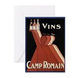 Vintage Wine Ad Greeting Cards (Pk of 10)