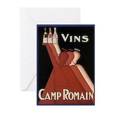 Vintage Wine Ad Greeting Cards (Pk of 10)
