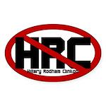 Anti Hillary Rodham Clinton Oval Sticker
