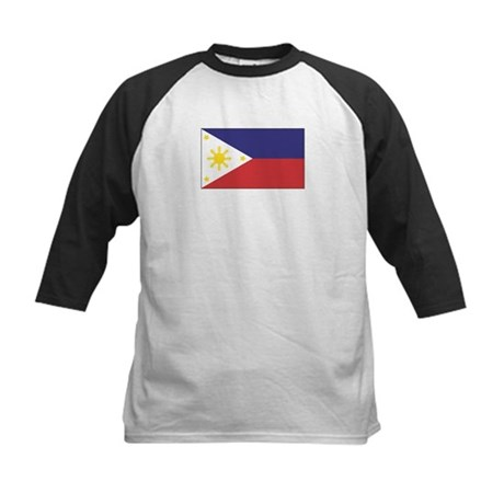Philippine Flag Kids Baseball Jersey