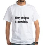 Military Intelligence (Front) White T-Shirt