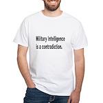 Military Intelligence (Front) White T-Shirt