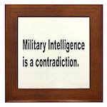 Military Intelligence Framed Tile