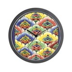 Colourful Blossoms Wall Clock