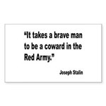 Stalin Brave Red Army Quote Rectangle Sticker 10