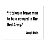 Stalin Brave Red Army Quote Small Poster