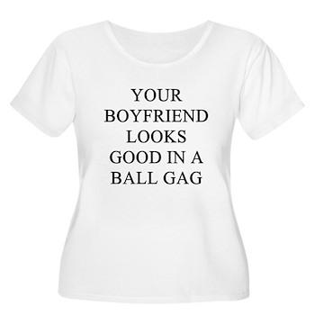 ball gag gifts t-shirts Women's Plus Size Scoop Ne