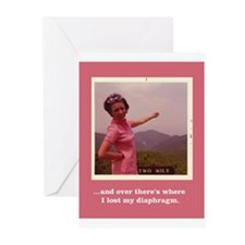 'lost diaphragm' Greeting Cards (Pk of 20)