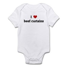I Love beef curtains Infant Bodysuit
