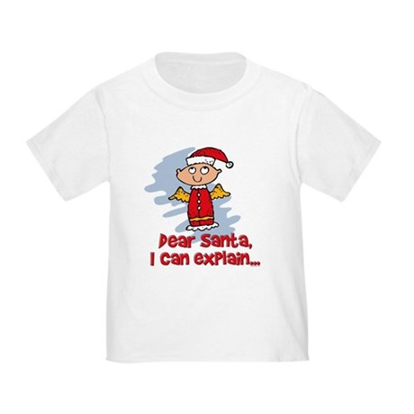 Dear Santa Bad Angel Toddler T-Shirt