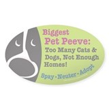 Pet Peeves Oval Sticker (50 pk)