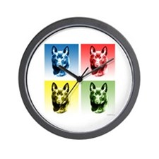 Schipperke Pop Wall Clock