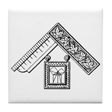 Past Master's Jewel No. 3 Tile Coaster