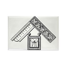 Past Master's Jewel No. 3 Rectangle Magnet
