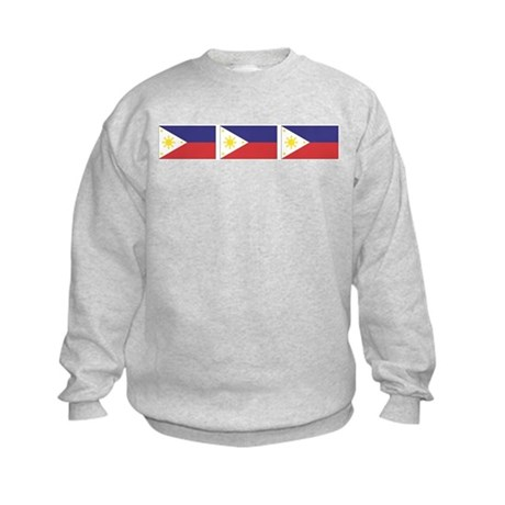 Philippine Flags Kids Sweatshirt