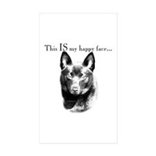 Schipperke Happy Rectangle Sticker 10 pk)
