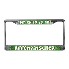 My Kid Affenpinscher License Plate Frame