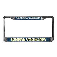 Lowrider Swedish Vallhund License Plate Frame