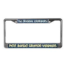 Lowrider Petit Basset License Plate Frame