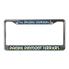 Lowrider Dandie Dinmont License Plate Frame