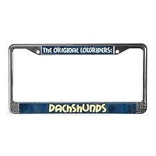 Lowrider Dachshund License Plate Frame