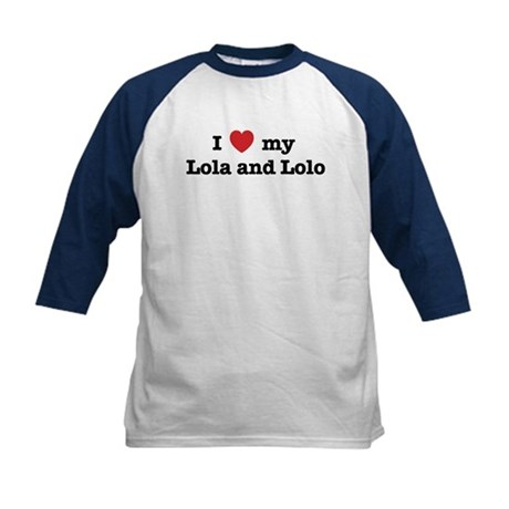 I Love my Lola and Lolo Kids Baseball Jersey