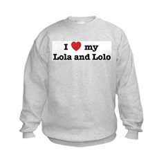 I Love my Lola and Lolo Kids Sweatshirt