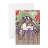 English Lop Rabbit Sympathy Cards (Pk of 20)