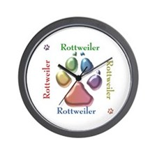 Rottweiler Name2 Wall Clock