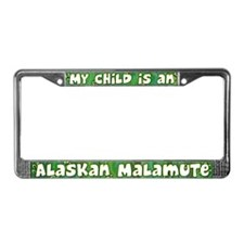 My Kid Alaskan Malamute License Plate Frame