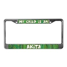 My Kid Akita License Plate Frame