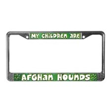 My Children Afghan Hound License Plate Frame