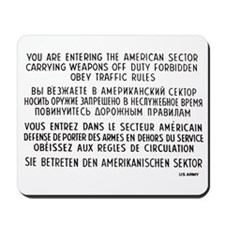 Berlin Wall - Checkpoint Charlie Mousepad