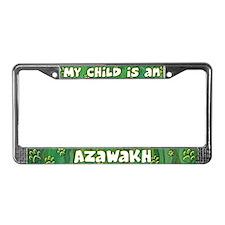 My Kid Azawakh License Plate Frame