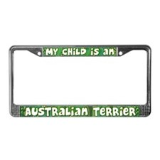 My Kid Australian Terrier License Plate Frame