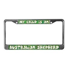 My Kid Australian Shepherd License Plate Frame