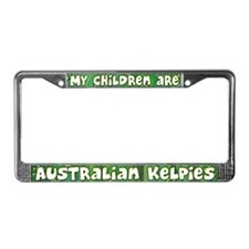 My Children Australian Kelpie License Plate Frame