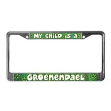 My Kid Groenendael License Plate Frame