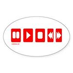 TECHNOLOGY Oval Sticker (10 pk)