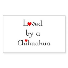 Loved by a Chihuahua Rectangle Decal