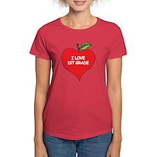 Heart Apple I Love 1st Grade Tee
