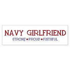 Strong, Proud, Faithful - Navy Girlfriend Car Sticker